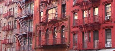 Fotomural Cidade de Nova Iorque / Escada de incêndio