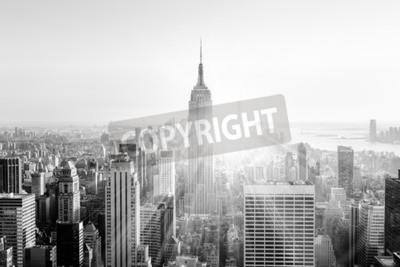 Fotomural Cidade de Nova York. Imagem preto e branco.