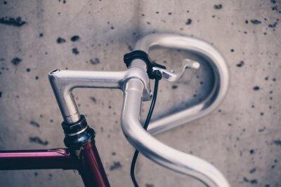 Fotomural Cidade, estrada, bicicleta, guidão, closeup, vindima, estilo