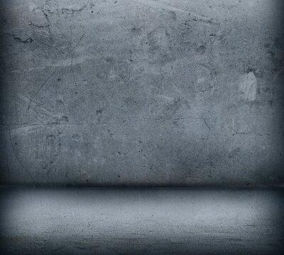 Fotomural Cinzento, concreto, parede, chão, fim, cima