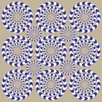 Fotomural Círculos da rotação (ilusão)