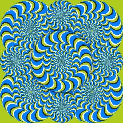 Fotomural círculos onda ilusão de ótica