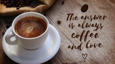 Fotomural Citações do café