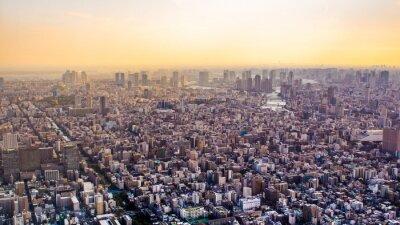 Fotomural Citiscape, Tóquio, pôr do sol, Japão