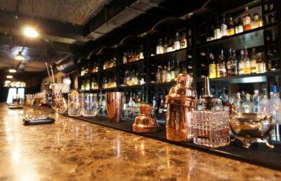 Fotomural Clássico balcão de bar