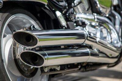 Fotomural close-up de escape da motocicleta