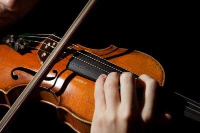 Fotomural Close-up, foto, homem, tocando, violino