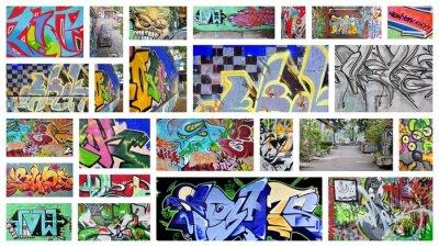 Fotomural colagem ... grafite