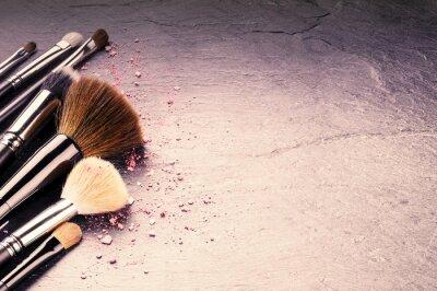 Fotomural Coleção de pincéis de maquiagem profissionais