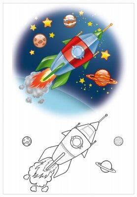 Fotomural coloração de nave espacial