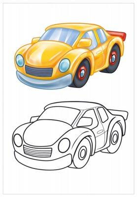 Fotomural coloração do carro de brinquedo amarelo