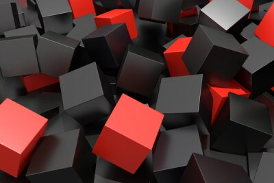 Fotomural colored cubes