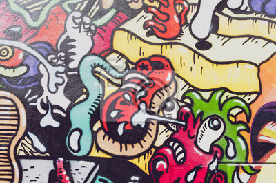 Fotomural colores de graffiti