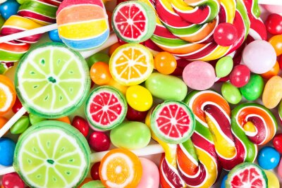 Fotomural Colorful lollipops and candy