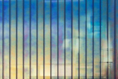 Fotomural Colorido, escritório, parede, vidro, fundo