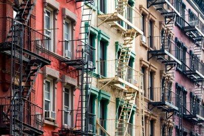 Fotomural Coloridos, apartamento, edifícios, novo, york, cidade