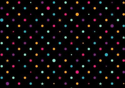 Fotomural Coloridos pontos fundo preto ilustração vetorial