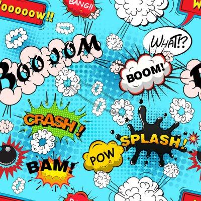 Fotomural Comic discurso padrão Seamless bolhas ilustração