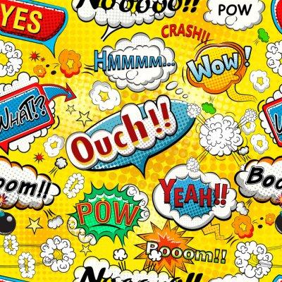 Fotomural Cômico, discurso, bolhas, seamless, Padrão, Ilustração