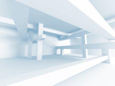 Fotomural Conceito Abstrato Da Arquitetura. Design de Interiores de Edifícios Modernos