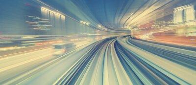 Fotomural Conceito, alta, velocidade, tecnologia, através, Um, Tokyo, monorail