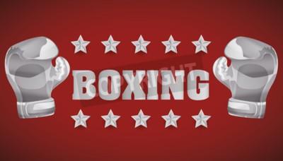 Fotomural Conceito de boxe com design de ícones de campeonato, ilustração vetorial 10 eps gráfico.
