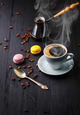 Fotomural Copo, café, grão, cezve