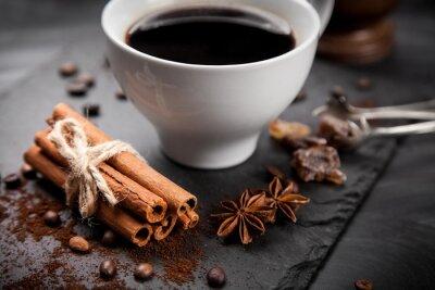 Fotomural Copo, café, pedra, tábua