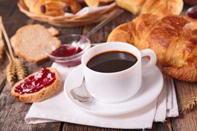 Fotomural copo de café e croissant