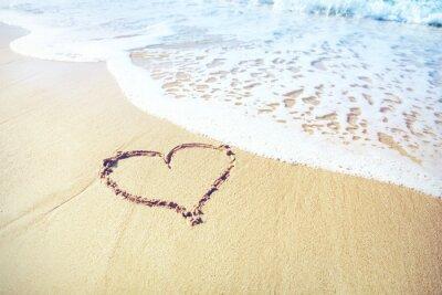 Fotomural Coração de areia