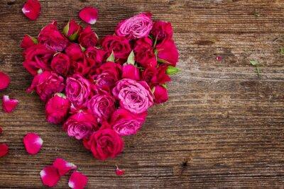 Fotomural coração de rosas