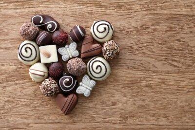 Fotomural Coração dos doces de chocolate