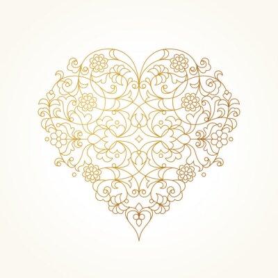 Fotomural Coração ornamentado do vetor. Ilustração Do Dia Do Valentim.