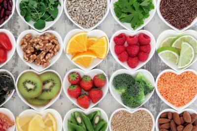 Fotomural Coração Saudável Comida