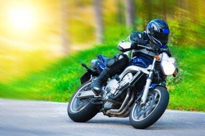 Fotomural Corrida de moto dinâmica