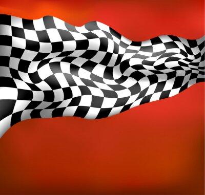Fotomural corridas de fundo bandeira quadriculada wawing