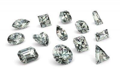 Fotomural Cortes de diamantes