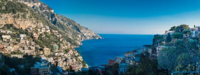 Fotomural Costa de Amalfi entre Nápoles e Salerno. Itália
