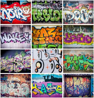Fotomural Couleurs Graffiti