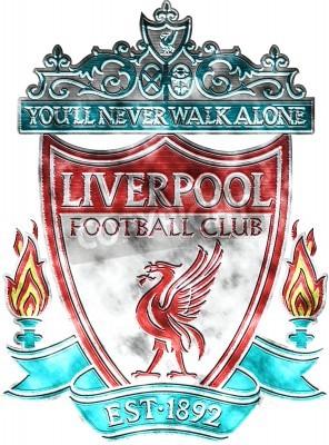 Fotomural Crachá usado de FC Liverpool
