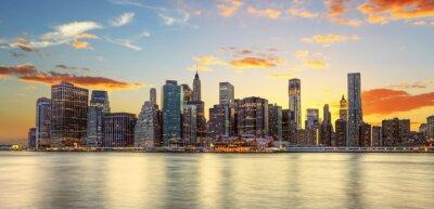 Fotomural Crepuscule à Manhattan, Nova York.