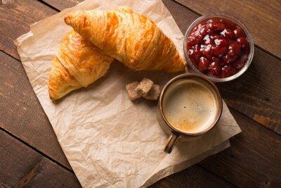 Fotomural Croissant, café