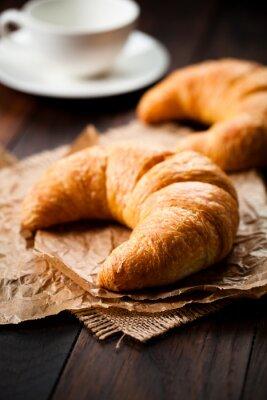 Fotomural Croissant com manteiga geléia de morango