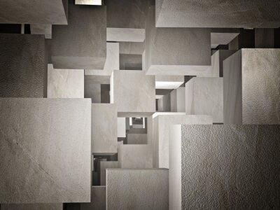 Fotomural cubi abstrato