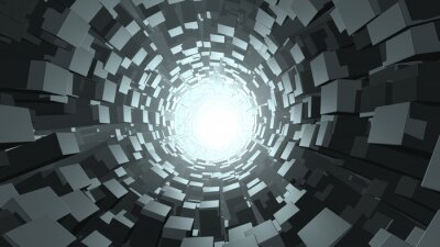 Fotomural Cubo abstrato wormhole