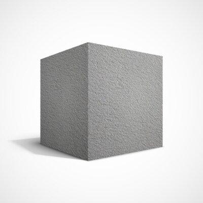 Fotomural Cubo de betão
