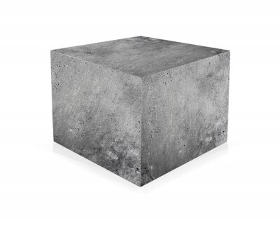 Fotomural Cubo de concreto isolado