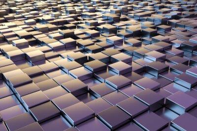 Fotomural Cubos metálicos roxos