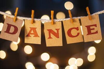 Fotomural Dança Concept Cartões e luzes grampeado