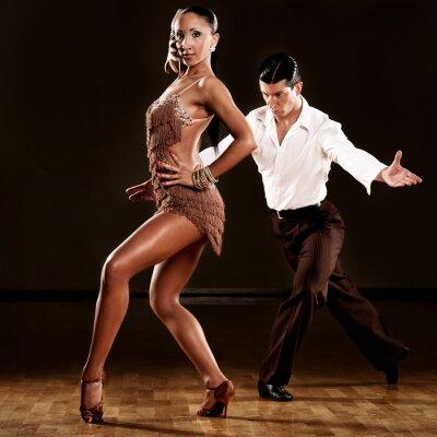 Fotomural dança latino em ação